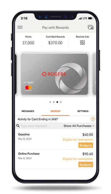 Redeem cash back rewards anywhere, anytime | Rogers Bank